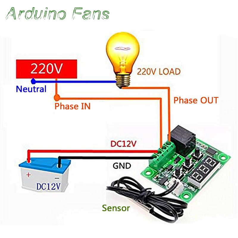 DC 12V LED Digital Thermostat Temperature Controller Switch Module