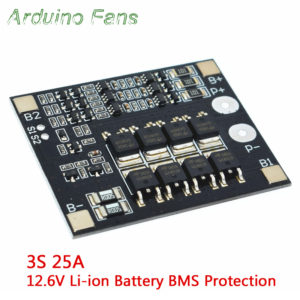 3S 12 6V 40A Li-ion Lithium 18650 Battery Cell BMS Protection